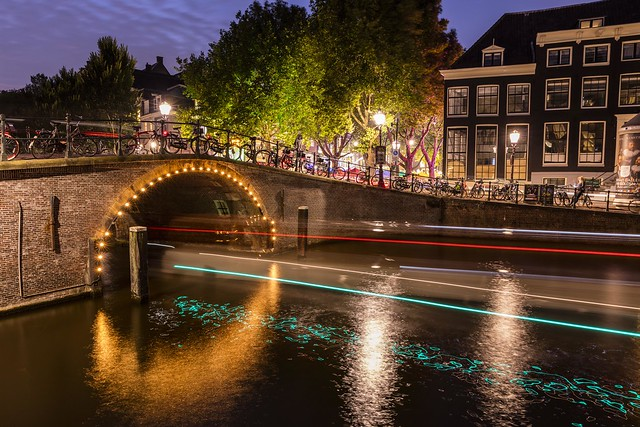 Amsterdam Keizersgracht Canal Lights & Reflections