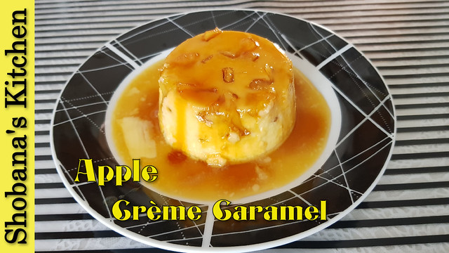 Caramel Apple Pudding Recipe /ஆப்பிள் கேரமல் புட்டிங்/ Easy Caramel Pudding Recipes/Shobanas Kitchen