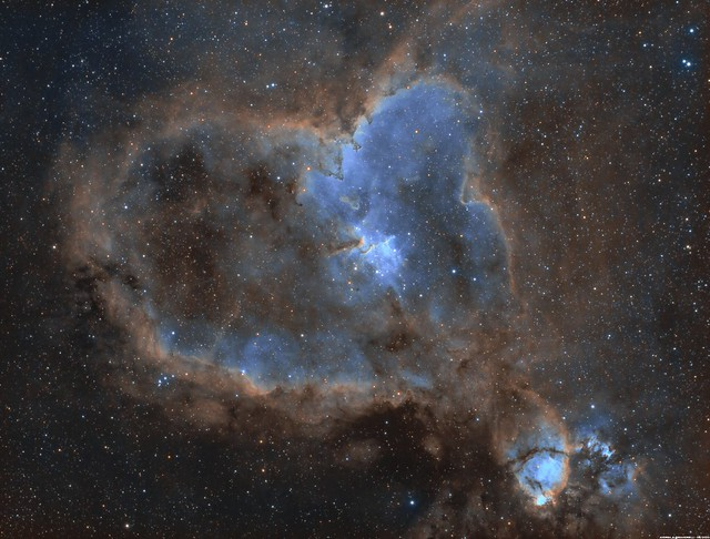 IC 1805 - NGC 896 (IC 1795) - The Heart and The Fish Head Nebulae