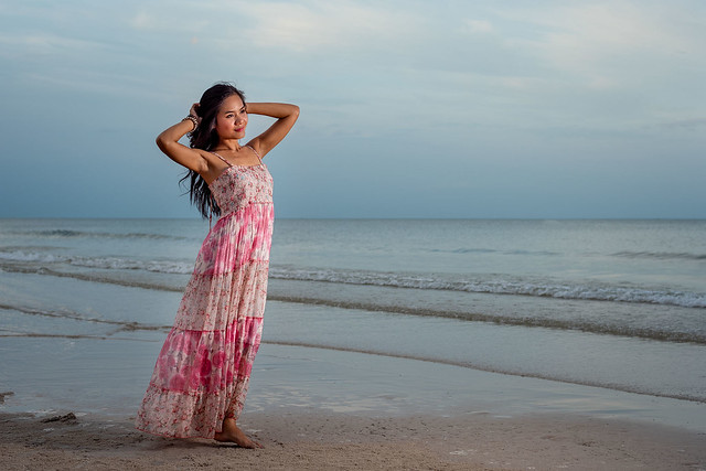 Aom on the beach in Hua Hin