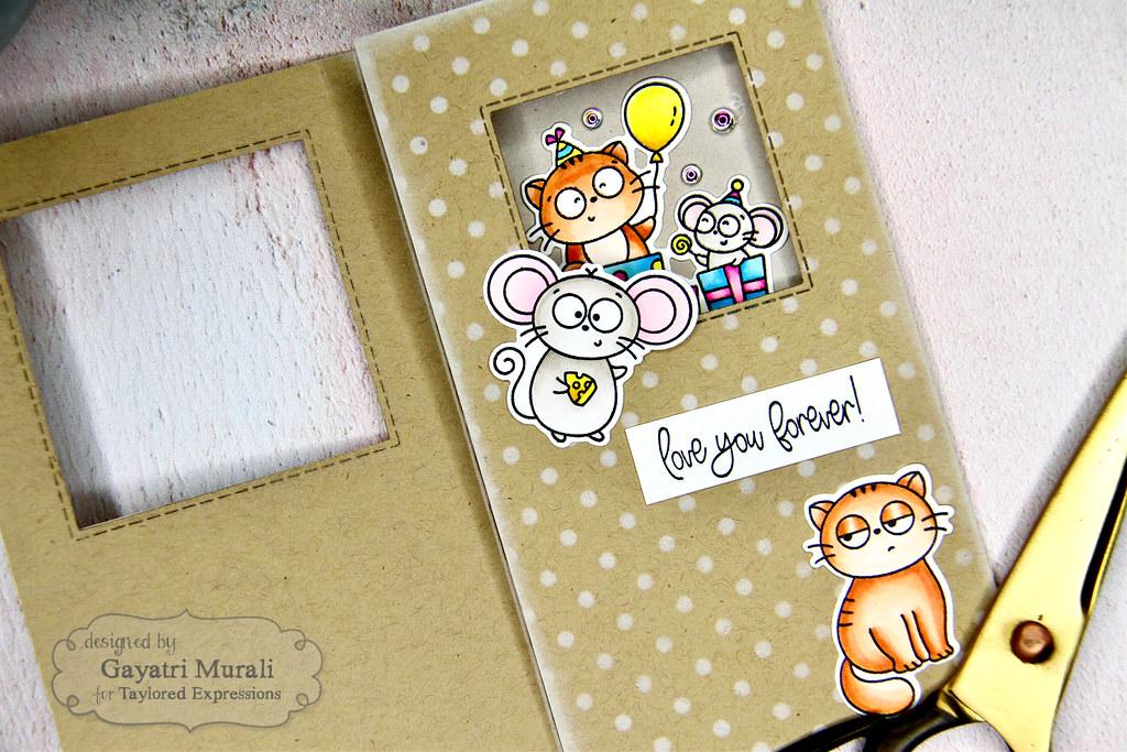 Project #1 card LS open closeup