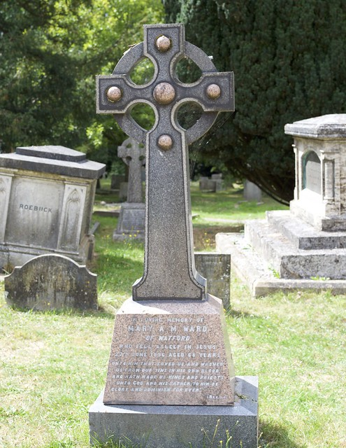 The grave of Mary A M Ward