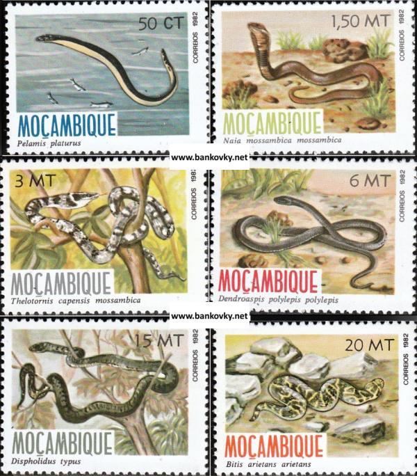 Známky Mozambik 1982 Hady