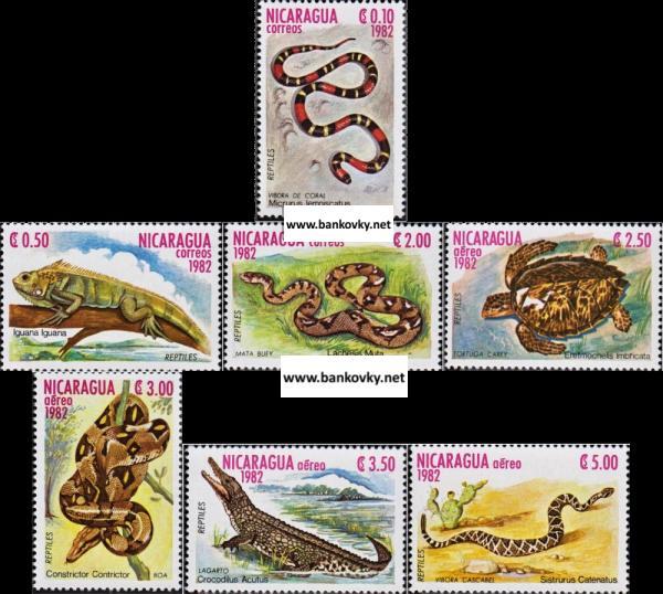Známky Nikaragua 1982 Plazy neraz. séria