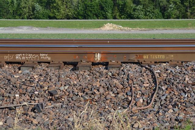 Welded rail joints, McClire Illinois