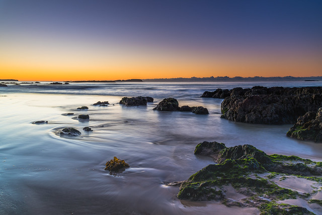 Winter's Sunrise at Surf Beach with Craggy Rocks
