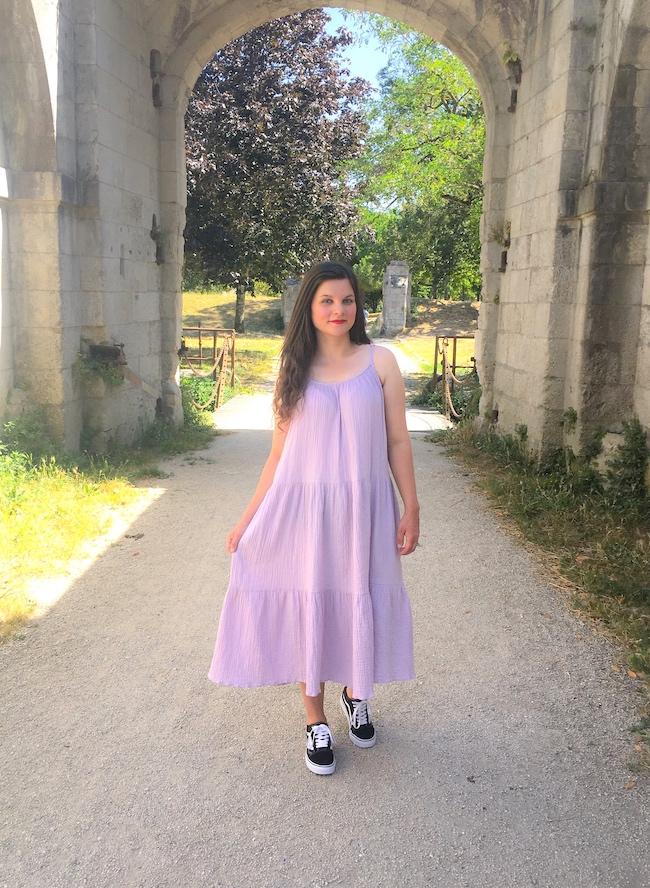 comment-porter-robe-violette-lila-conseils-modes-blog-la-rochelle