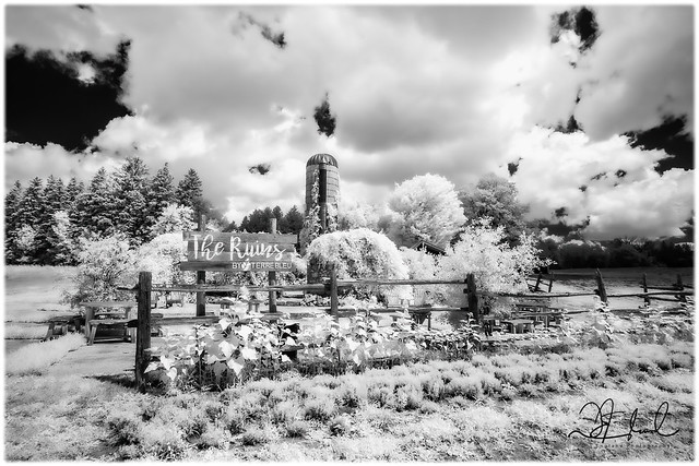 The Ruins - B&W Infrared