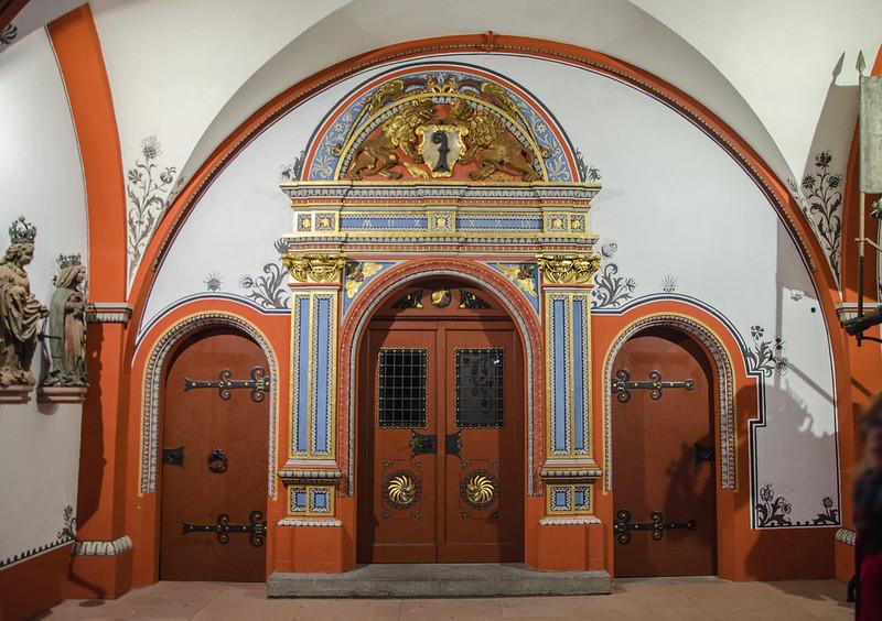 Hôtel de ville #3 - Portes de la salle voûtée / Rathaus #3 - Türen des Gewölbesaals