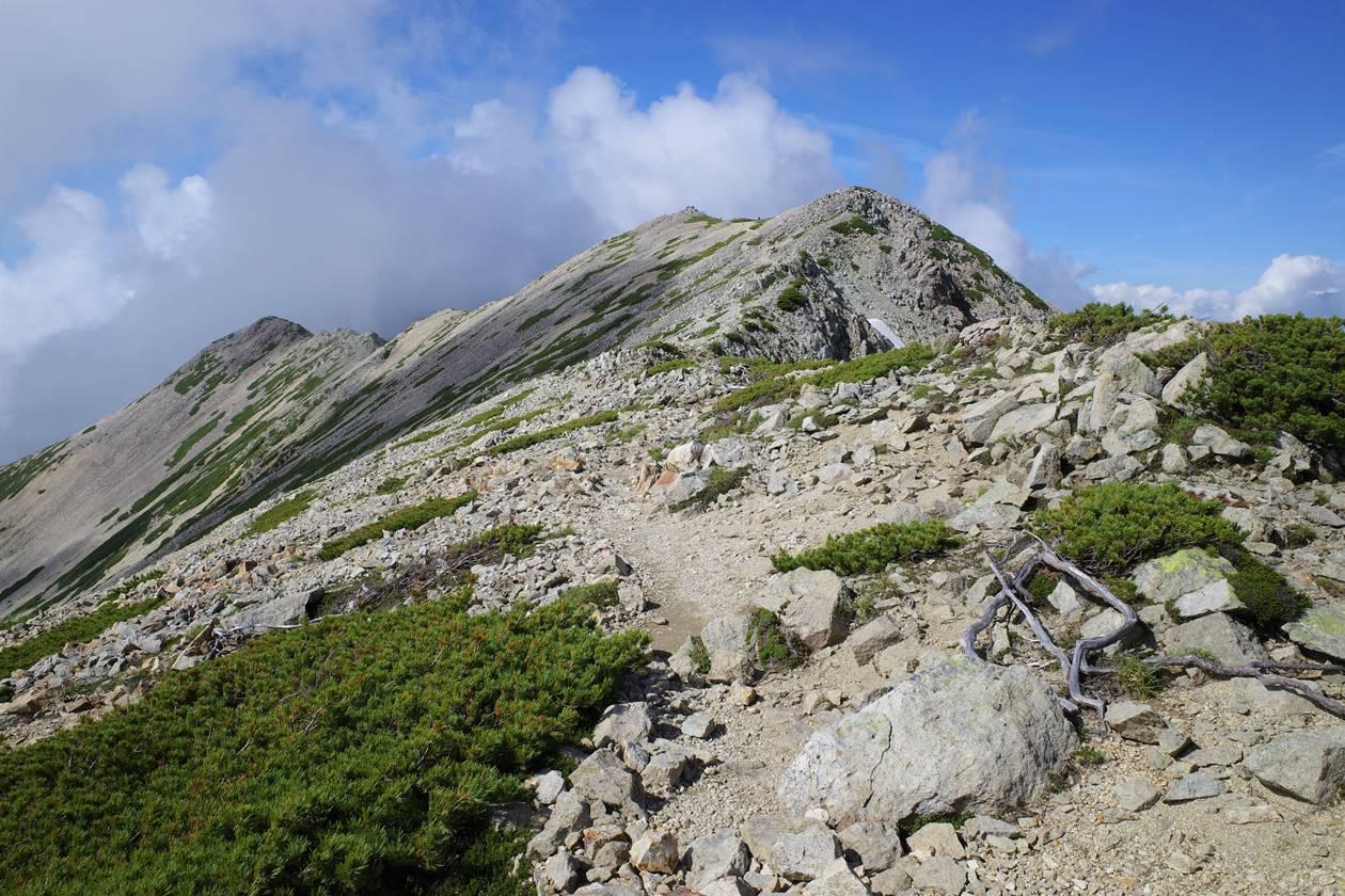薬師岳の稜線
