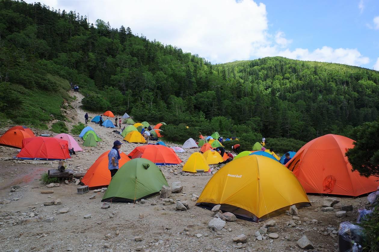 薬師峠キャンプ場のテント場