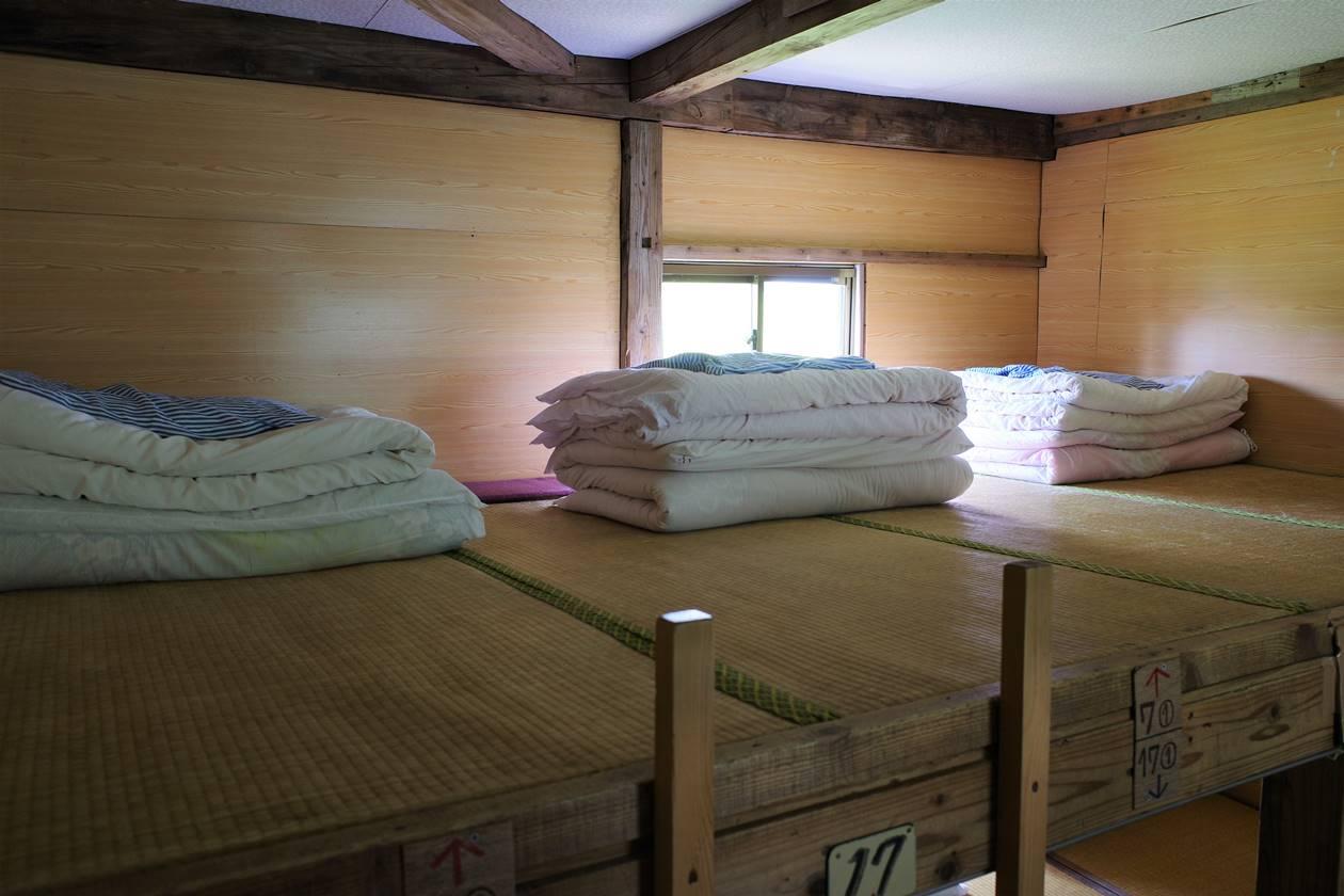 太郎平小屋の寝室