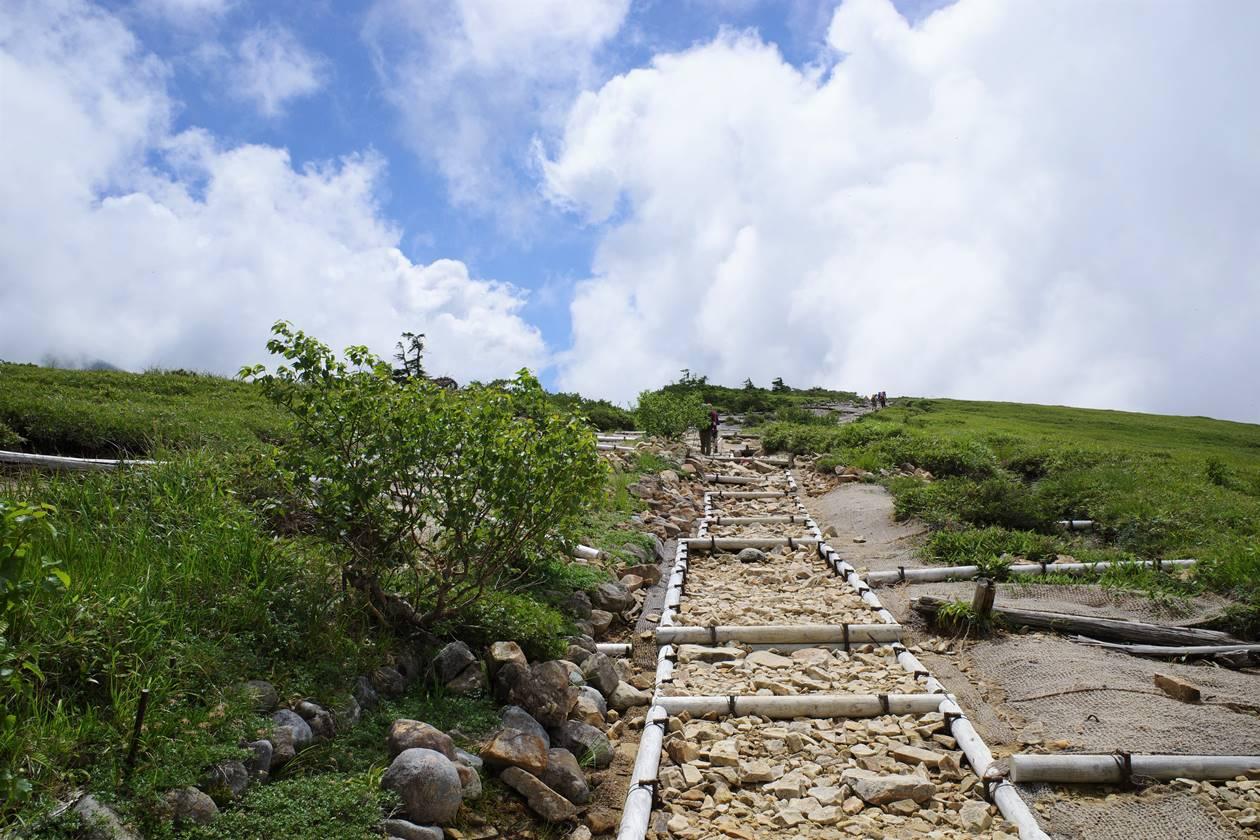 薬師岳登山 折立ルートの遊歩道