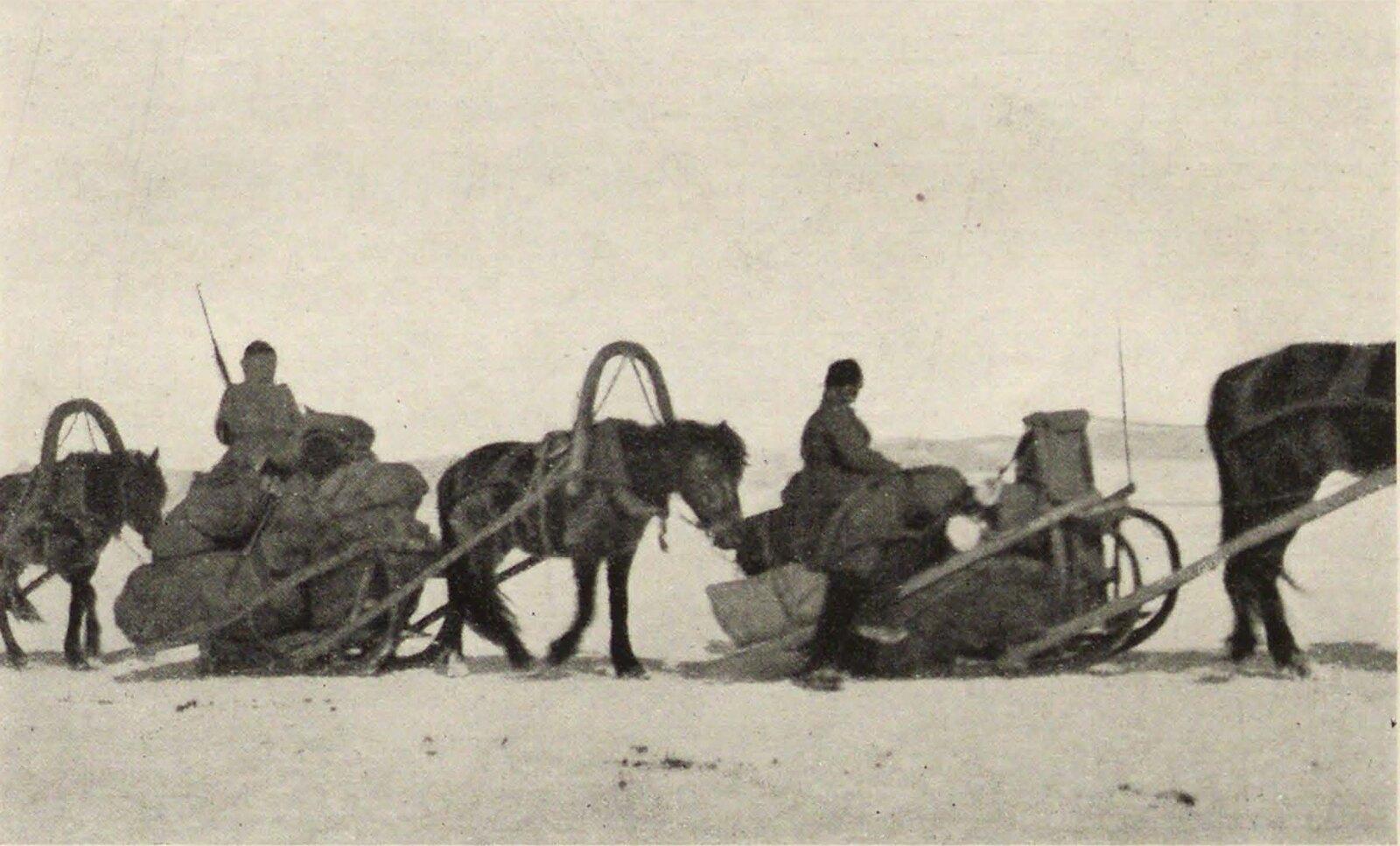 03. Байкал. Переправка войска по льду на Танхой