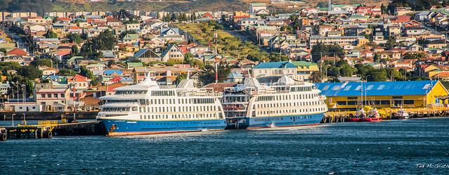 2020 - COVID-19 HAL Cruise - Chile - Punta Arenas - Stella & Ventus Australis Cruise Ships