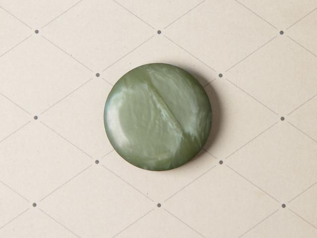 Large vintage sage green plastic button – 30mm