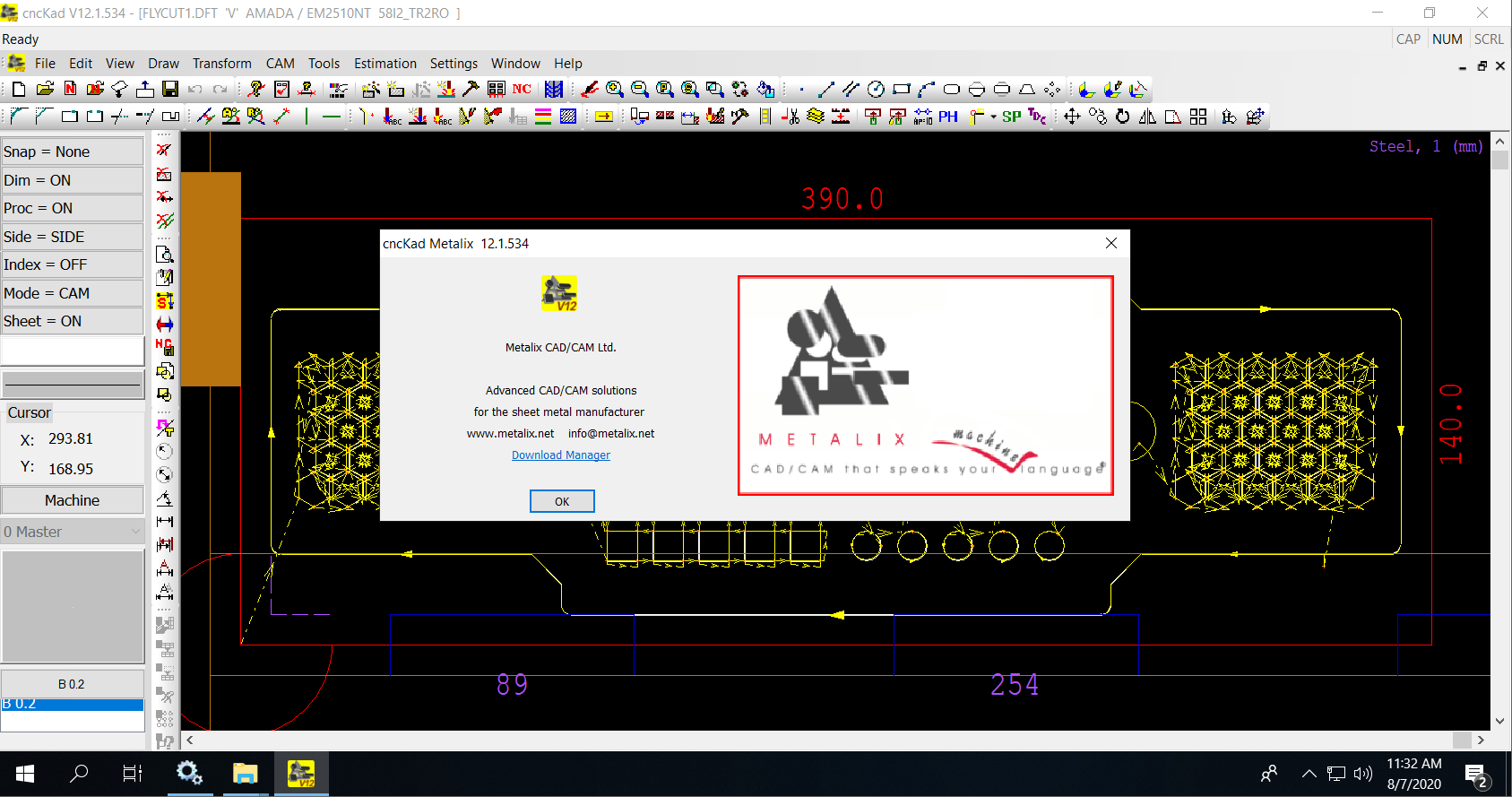 Working with cnckad v12.1.534 x64 full license