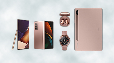 The five new devices which Samsung unveiled at Galaxy Unpacked 2020 a moment ago.