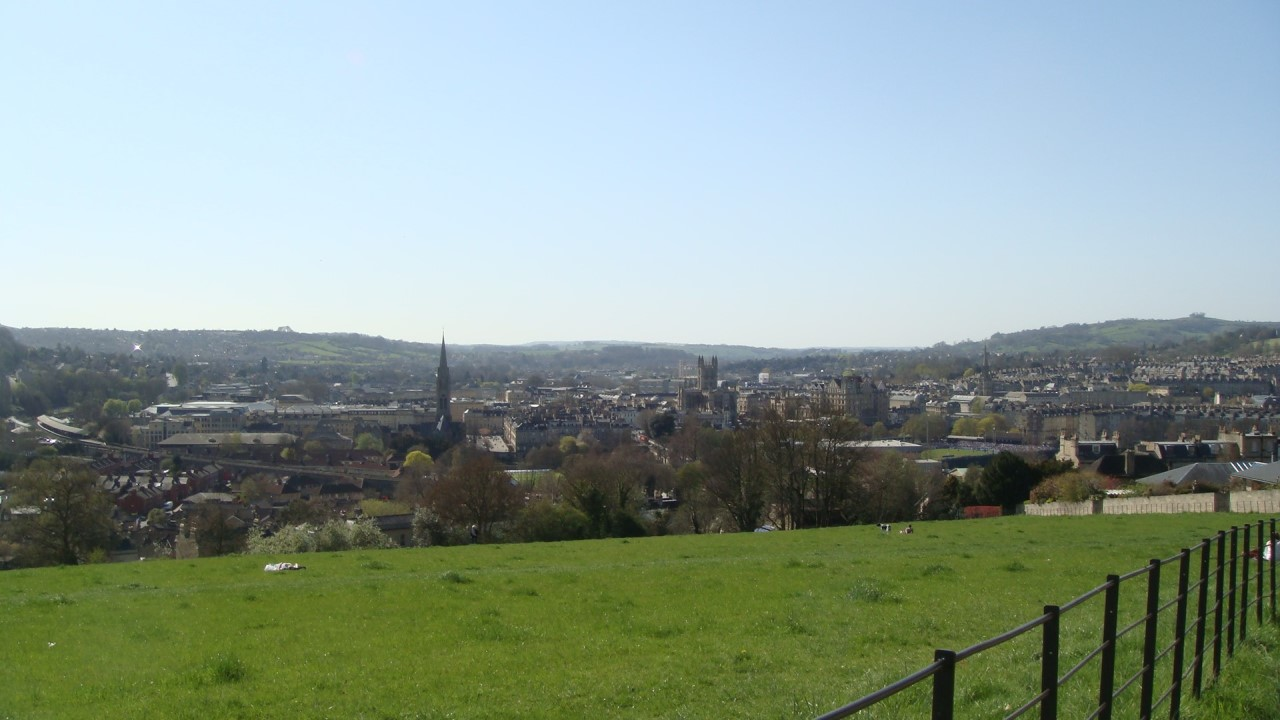 View over Bath from a hillside