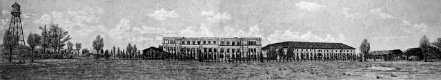 Chapei Civil Assembly Centre, drawing by Bob Hekking, Shanghai, 1945