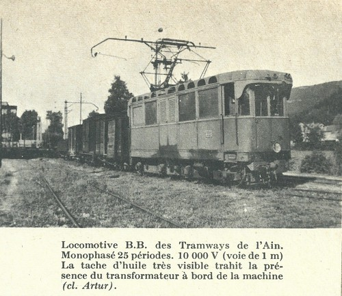 A short freight on on the L`ain interurban