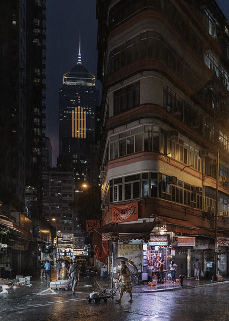 Wan Chai Rainy Night