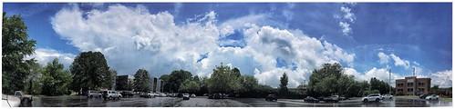 panoramas clouds skies mariettaga trees parkinglot buildings iphonese stevefrenkelphoto snapseed