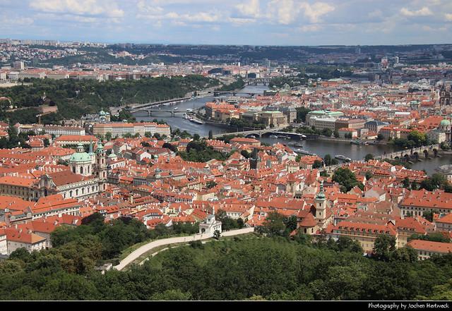 View from Petřínská Rozhledna, Prague, Czech Republic