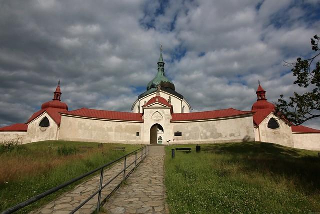 Poutní kostel sv. Jana Nepomuckého na Zelené hoře / The pilgrimage Church of St. John of Nepomuk at Zelena hora 20200713