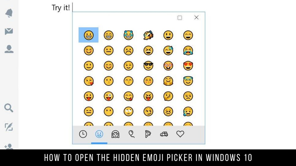 How to Open the Hidden Emoji Picker in Windows 10