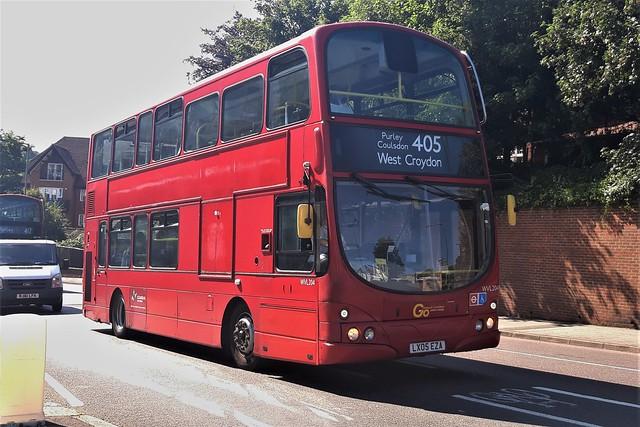 LX05EZA (Wright Eclipse Gemini #WVL204- Go-Ahead London) Purley/Foxley Lane