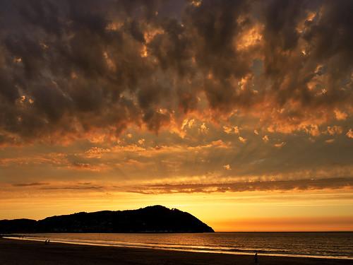 minehead sunset crepuscular rays