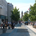Recent photo of the high street in Preston