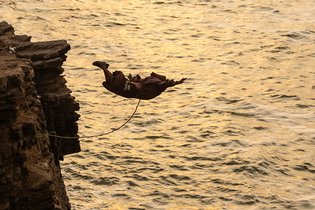 The Diver at El Salto De Fraile, Chorillos