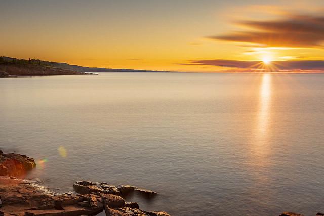 North Shore sunrise, Lake Superior July 29, 2020