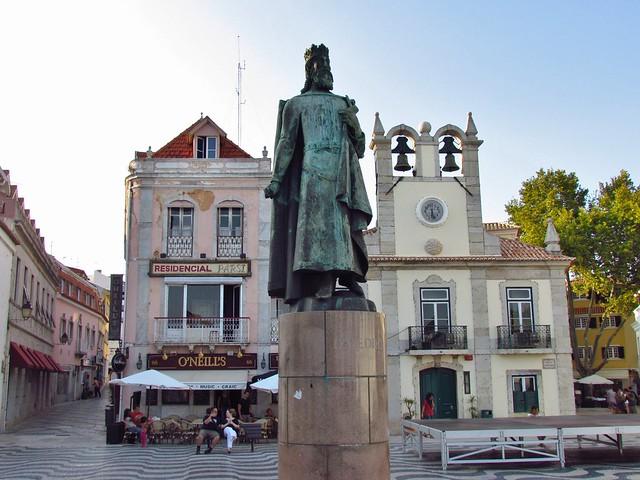 Statue of D. Pedro I, The Square of 5th October, Praça 5 de Outubro, Cascais, Portugal