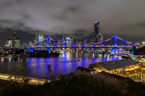 storybridge bridge river brisbaneriver skyline view vista skyscraper tower reflection night cbd brisbanecbd brisbane queensland qld australia nikon d500 nikond500