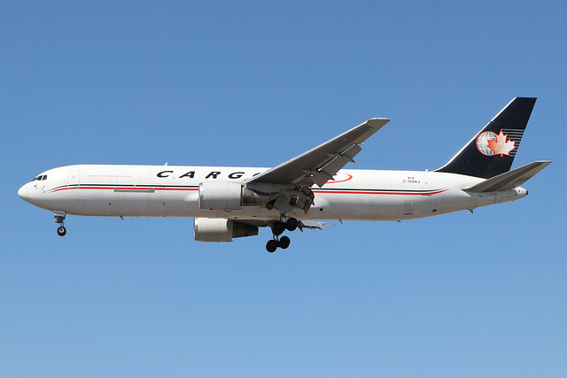 C-GUAJ  -  Boeing 767 35EERBCF  -  Cargojet  -  LHR/EGLL 9-8-20
