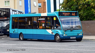 Arriva North East 2806, a 2008 Optare Solo M950, reg no YK08ERZ