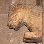 Aleppo Citadel (Qal'at Halab) c.10th-15th cent Entry Complex Citadel Gate Guardian Lion right (3)