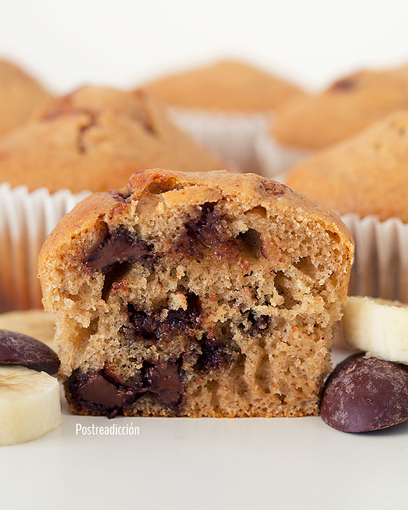 muffins platano chocolate