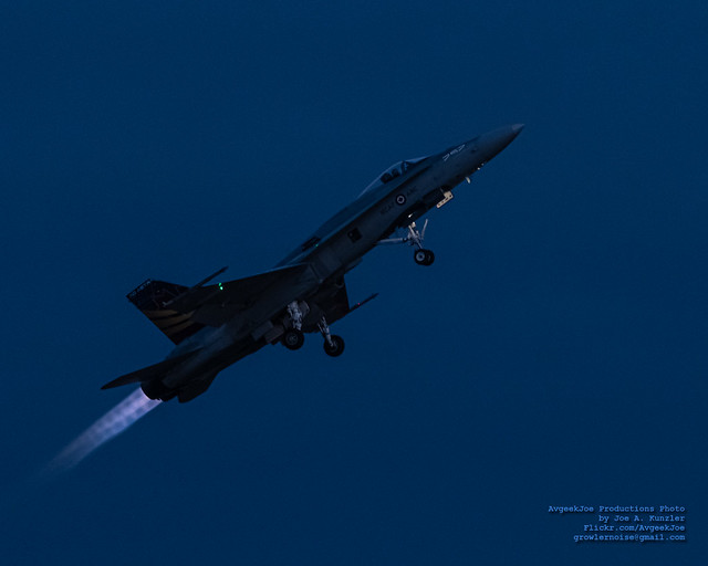 CF-18 BURNERS IN THE BLUE HOUR