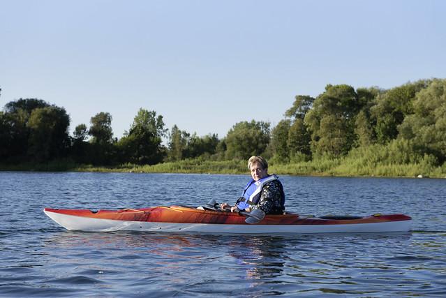 Kayaking with Roz