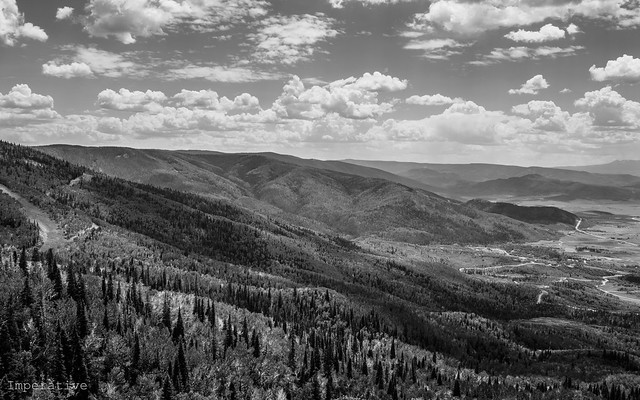 View from top of Mt Werner - Steamboat Springs, CO