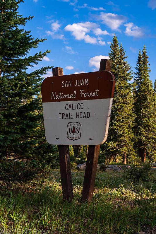 Calico Trailhead Sign