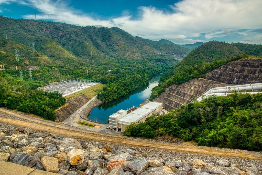 Hydro Power Plant at Srinakarin dam in Kanchanaburi province in Thailand