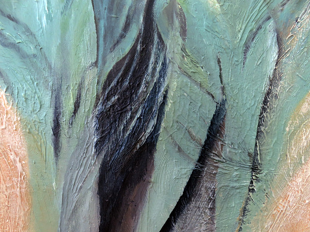 Detail of an acrylic painting of Sage Dancers