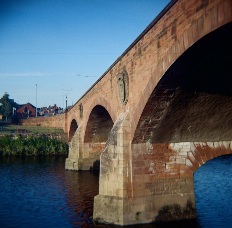 St Michael's Bridge , Dumfries, June 2020. Kodak Cresta II with Lomography 400CN. Processed and scanned by AG Potolab.