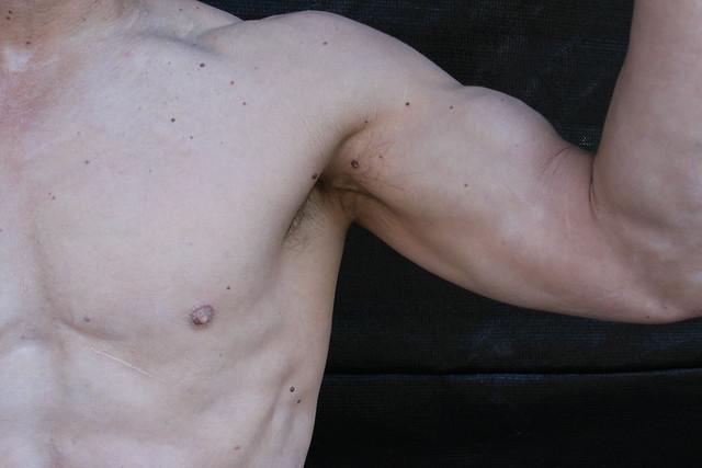BEAUTIFUL MUSCLE ADONIS ARMPIT & GUNS ! ~ ADDA's MICHELANGELO ! ( safe photo )