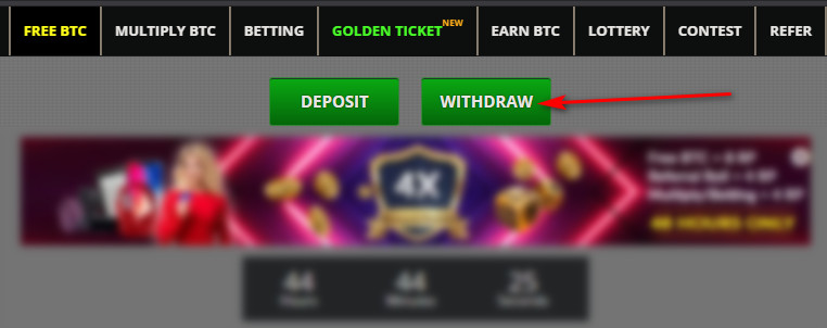 withdraw button